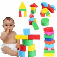 Baby Kids Early Learning Educational Toy Montessori Geometry Wooden Block Puzzle