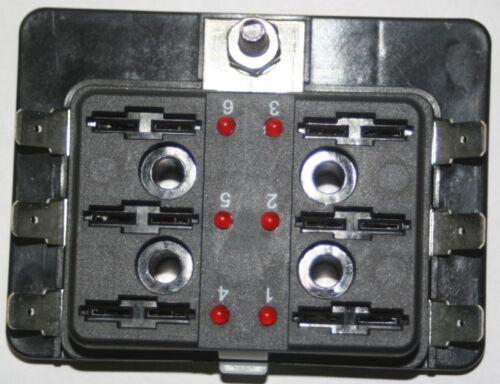 6-Fach KFZ Wohnmobil Sicherungshalter Sicherungsdose mit Ausfallled