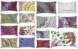 Elephant-MANDALA-TAIES-D-039-OREILLER-INDIEN-Coussin-Couverture-Cotton-Pillow-Sham-boheme