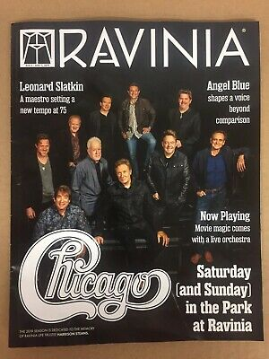 Ravinia Magazine w/ Chicago the band - Aug  2019 - Lamm
