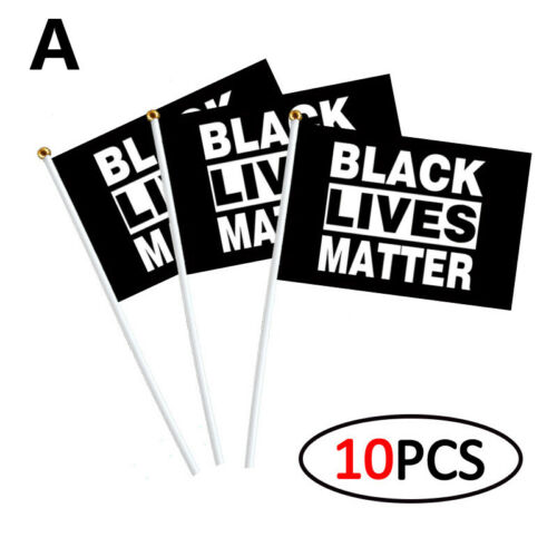 14x21cm Black Lives Matter Flag BLM Peace Protest Outdoor Banner Pennant