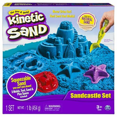 Colors Vary Kinetic Sand The One Only Sandcastle Set 1lb Sand Molds Tools