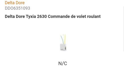 6351093 DELTA DORE TYXIA 2630 COMMANDE DE VOLET ROULANT