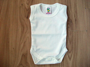 d0af53704 Image is loading Baby-Body-Suits-Popper-Vests-Underwear-Sleeveless-Newborn-