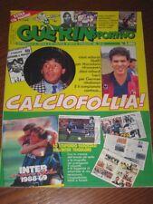 GUERIN SPORTIVO=N°23 1989 ANNO LXXVII=66 PAGINE INTER CAMPIONE D'ITALIA 1988/89