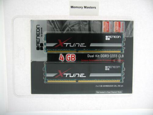 AXH860UD20-13G-K-4G 4GB 2X2GB DDR3-1333 PC3-10600 CL8-8-8 240PIN DIMM