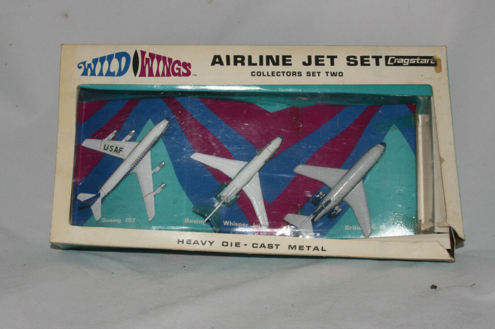 1960's Cragstan Wild Wings Collectors Set 2, Airline Jet Set, MIB