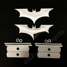 2x Metal Chrome Batman Dark Knight Mask Car Front Grille Emblem Badge Decal
