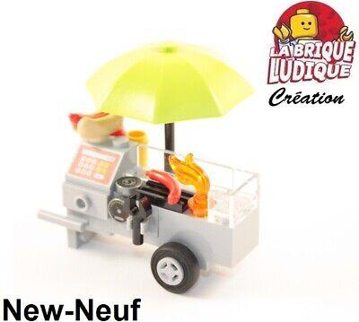 Lego 4150px32 Tile 2x2 round with Hot Dog Fries Saucisse Frite Paradisa 6414 MOC