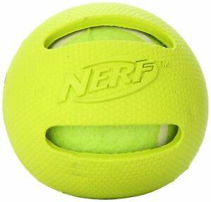 Nerf-Dog-RETRIEVER-BALL-Dog-Toy-3-034-Blue-Yellow-or-Red-Encase-a-Tennis-Ball