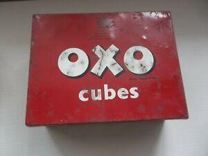 Vintage OXO Cubes Tin 17cm x 13cm x 6.5cm held 24x6 cubes