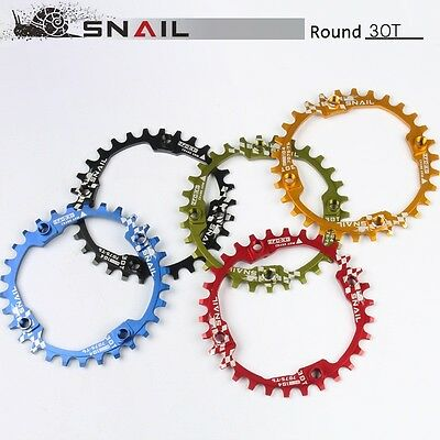 SNAIL 30T MTB Mountain Bike Narrow Wide Round Chainring Chain Ring BCD 104mm Red
