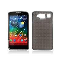 Smoke with Crystal Plaid Pattern TPU Case Cover for Motorola Droid Razr Maxx Hd