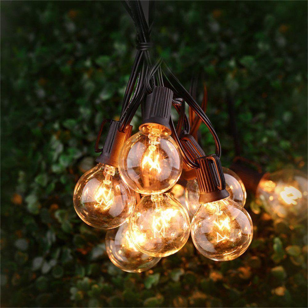 20 LED Catene Luminose Bianco Caldo Strisce G50 Lampadina Globo Decorative ip44