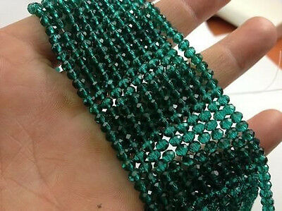 500pcs dark green exquisite Glass Crystal 3*4mm #5040 loose beads #
