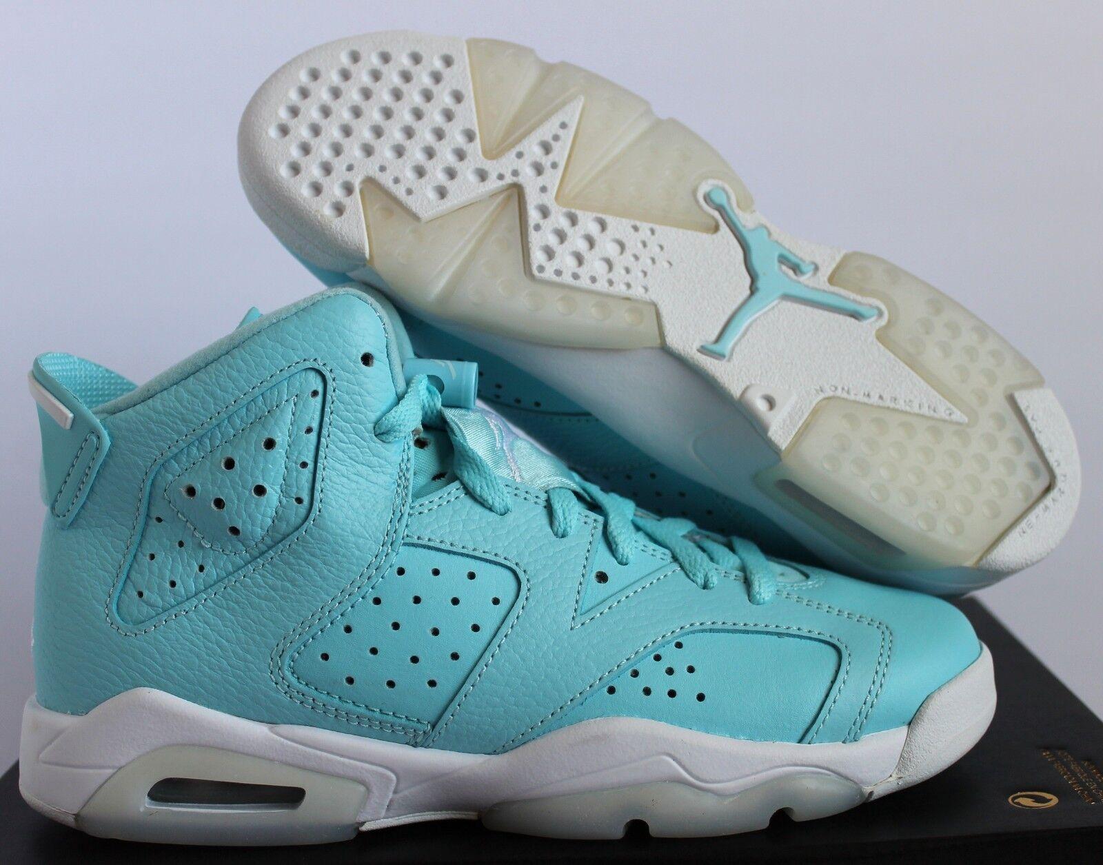 Nike Air Jordan 6 Retro GG Still Bleu- blanc SZ 5Y// femmes SZ 6.5 [543390-407]