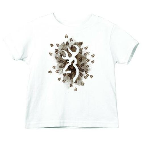 Browning Buckmark Toddler Deer Tracks White T-Shirt Kids Hunting CHOOSE SIZE T34