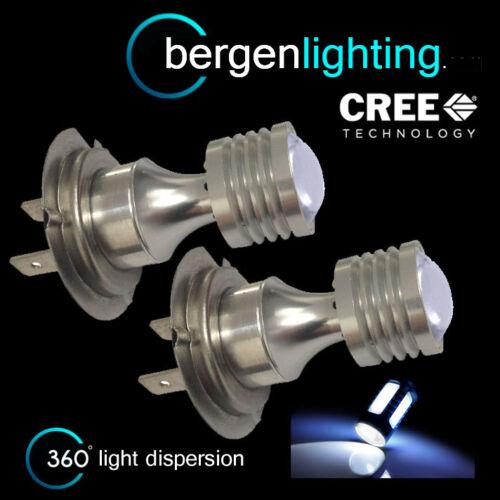 2X H7 WHITE 4 CREE LED FRONT HEADLIGHT HEADLAMP LIGHT BULBS KIT XENON HL503402