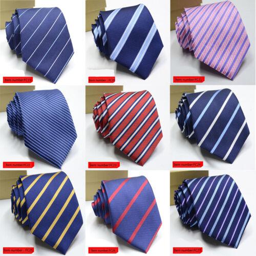 Men/'s Ties Solid Color Striped 8cm Jacquard Necktie Cravat Formal Wedding Party