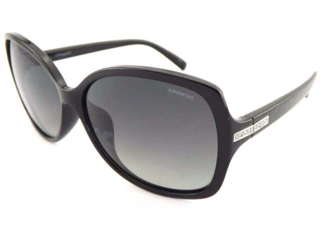 8638b17bc4 POLAROID women s Black Diamante Sunglasses Polarized Grey Gradient PLD5011  D28