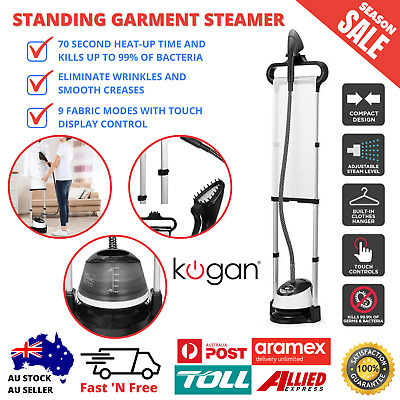 Details about  Garment Clothes Standing Fabric Steamer Wrinkle Remove Upright Portable Style
