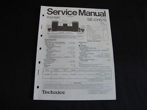 Stil; Kompetent Original Service Manual Technics Se-ch570 Modischer In