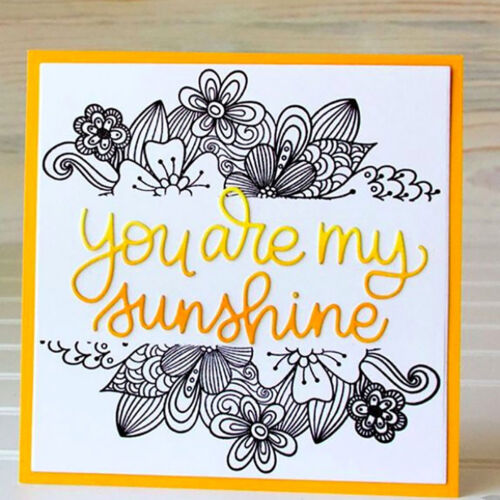 Words You are my sunshine metal Cutting Dies Stencils For Card Craft Decor E FJ