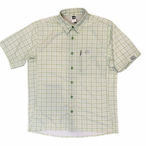 The-North-Face-Vented-Button-Down-Shirt-Mens-Size-Medium-Short-Sleeve-Green