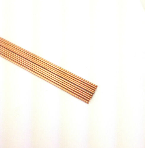 """LOT OF 10 DRAWN COPPER RODS .0300 OD X 12/"""" LONG"""