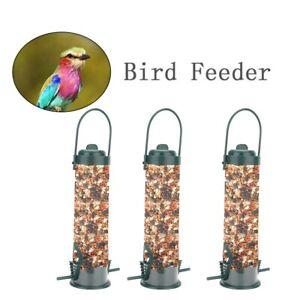 Hanging Garden Wild Bird Feeder Seed Container Hanger Outdoor Green Feeding