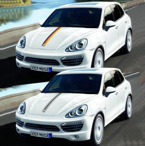Graphics Engine Hood Sticker Bonnet Stripe Decal For Porsche Panamera Cayenne