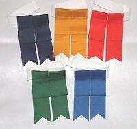 Single Loop Scottish Kilt Hose Flashes / Garters [blues, Greens, Grays, Black]