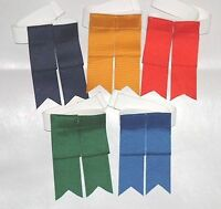 Single Loop Scottish Kilt Hose Flashes / Garters [white, Yellow, Reds, Purples]
