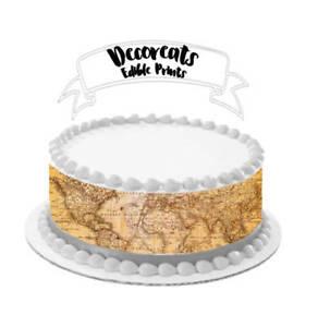 vintage-world-map-edible-image-cake-wrap-cake-strip-cake-image-map-cake