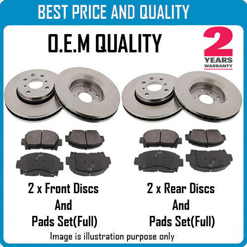 FRONT AND REAR BRKE DISCS AND PADS FOR SKODA OEM QUALITY 2207190222211020