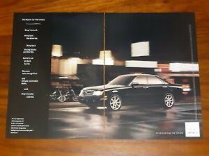 INFINITI M45 MAGAZINE ADVERTISEMENT MUSCLE CAR WITH BRAINS V8 SPORT LUXURY