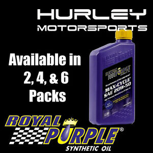 Details about ROYAL PURPLE Max-Cycle Synthetic Motorcycle Oil 20W-50 - 2  Quarts (01316)