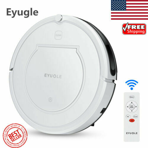Robotic Vacuum Cleaner Powerful Suction HEPA Filter For Hair Hard Floors 4 modes