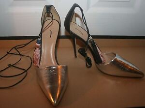 38ed18d9abb Image is loading J-CREW-ROXIE-CRACKLED-LEATHER-ANKLE-TIE-PUMPS-