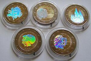 2 Euro Münze Hologramm Auswahl Luxemburg Spanien Niederlande