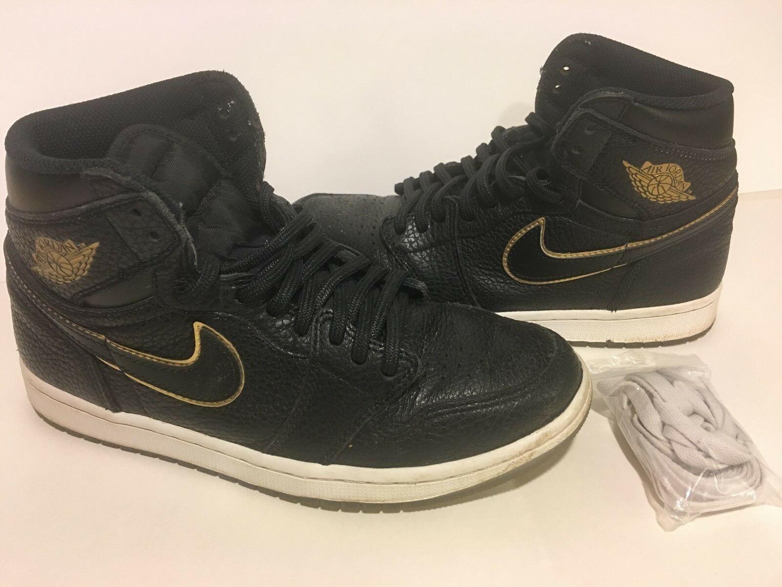 26dd8d31c48b1 Nike 555088-031 Air Air Air Jordan Retro 1 High OG Black Metallic gold Size