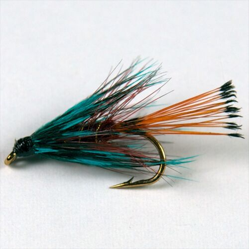 6 CLARET BUMBLE Wet Trout Fly Fishing Flies size options by Dragonflies