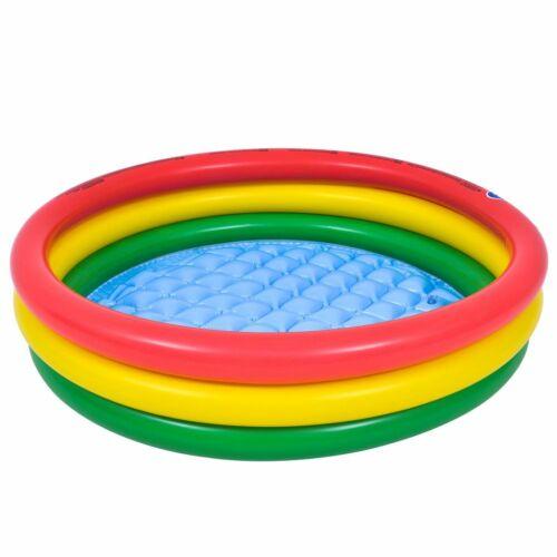 Baby Pool 100x22cm Kinderpool Planschbecken Schwimmbecken mit aufblasbarem Boden