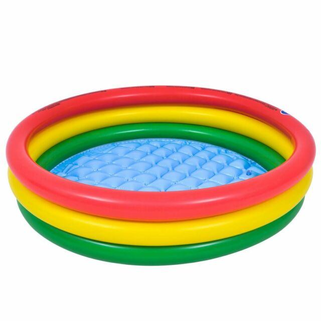 Baby Swimming Pool Schwimmbecken Planschbecken mit aufblasbarem Boden für Kinder
