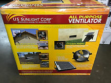 ALL Purpose Solar Power Ventilator fan , US Sunlight Corp New In Box 1010APV