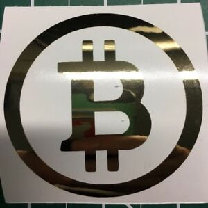 2-Gold-Chrome-Mirror-Finish-Bitcoin-Stickers-Indoor-Outdoor-Bitminer-Miner