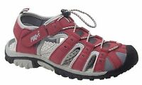 WOMENS SIZE 3 4 5 6 7 8 9 RED WALKING HIKING TRAIL STRAP TOGGLE STRAP SANDALS