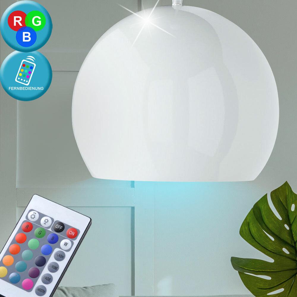 Suspension DEL RVB 7 watts luminaire lampe éclairage boule blancoo métal LED