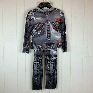 Halloween-Costume-Robot-Youth-Boys-8-10-Shirt-Pants-Goggles-3PC-Outfit
