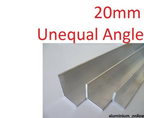 1 thickness lengths 100mm to 1000mm ALUMINIUM UNEQUAL ANGLE 20mm